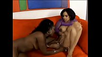 Two stunning black lettuce lickers Beauty Dior and Jazmine Cashmere enjoy pussy licking and dildo penetration 19 min