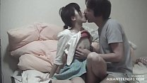 Girlfriend from Tokyo gives blowjob and gets licked