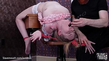 Hot blond gets puke fuck and rimjob lessons at the Slavemouth schoolhouse