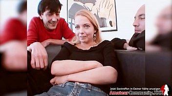 Cute GERMAN angelface gets her ASSHOLE stuffed!