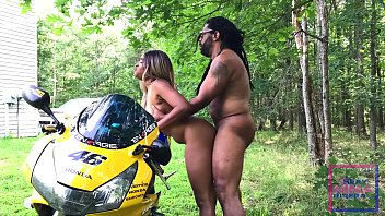 Nina Rivera bent over and FUCKED on a motorcycle