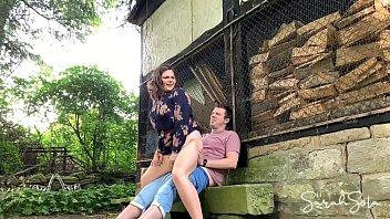 Fucking at an abondand barnyard - outdoor sex