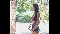 Paloma Veiga mostrando seus 22cm por 14Largura na rua de Campinas-SP