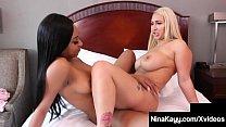 Sexy Snatch Sisters Nina Kayy & Lala Ivey Scissor Fuck & Cum