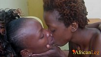 Black lesbians licking and fingering Pussy closeup