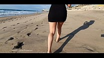 SHE HAD TO GET OUT HOME WHILE IN QUARENTINE BECAUSE OF COVID19 - A WALK ON THE BEACH MAKES HER HORNY
