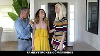 Family Strokes - Hot Teen (Jade Nile) Lets Stepdad Cum On Her Bush