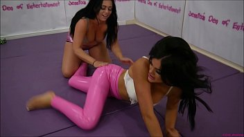 Bra and Panties Match (Strip-Wrestling Match) w, Loser gets strapped in a nappy (diaper)!! ~ Catalia Valentine vs Amy Murphy