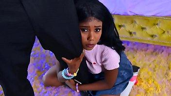 Cute black step d. has a crush on her stepdad