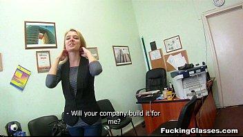 Fucking Glasses - Fucking job interview Chloe Blue 7 min