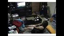 My mum in living room masturbates watching TV. Hidden cam