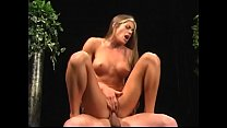Gorgeous babe with ideal fit body Aria Noir takes strong dick in her twat