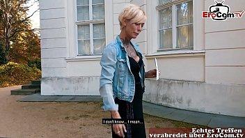 Deutsche Blonde Skinny tattoo Milf beim EroCom Date Blinddate abgeschleppt und gefickt POV