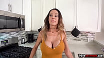 Perverted stepson fucked a big boobs stepmoms mouth