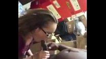 cheating on her boyfriend at work