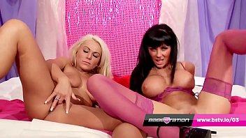 UK lesbians Ree Petra & Caprice Jane fucks in heels