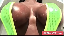 Ebony with big butt gets her black pussy licked - Prince Yahshua & Ebony Mystique