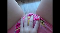 Barely legal teen POV pussy play
