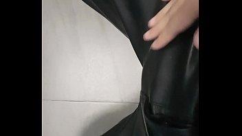 Masturbation leather pants 2