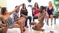DANCING BEAR - Gang Of Horny Ladies Open Their Mouths Wide For Dick Insertions