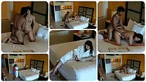 Hidden camera films young girl getting m. and being to have sex with an intruder in a hotel room