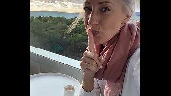 I fingered myself to orgasm on a public hotel balcony in Mallorca! 4 min