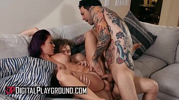 Busty (Monique Alexander) fills her holes with two big cocks - Digital Playground