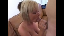 Lusty MILF Allison Kilgore with round tits gets fucked doggy style on floor by huge dick