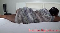 BrazilianBigButts.com bbw WatermelonButt wears bikini and dress to show her curves and teases her boyfriend