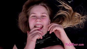 Chubby teen Maja gets punished