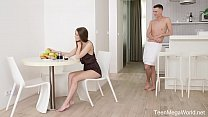 X-Angels.com - Sybil - Cunnilingus spices her morning coffee