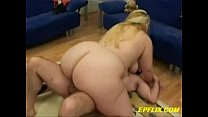 Huge Titted Blonde BBW Gets Lucky