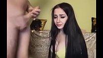 Russian webcam slut deepthroats big cock