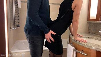 tinder date slut, hotel room fuck in pantyhose and high heels