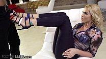 FootsieBabes Cherry Kiss' Husband Enjoys Her Feet While Pounding Her Ass