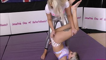 Bra and Panties Match (Strip-Wrestling Match) w, Loser gets strapped in a nappy (diaper)!! ~ Chrissy Morgan vs Zara Lei