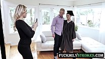 Cap And Gown Dick Down - Kenzie Taylor - FULL SCENE on http://FuckmilyStrokes.com