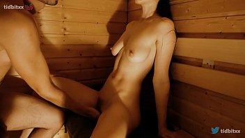 Sauna Sex with Hot Teen Stepsister