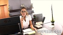 Sexy secretary fucked in the ass by her boss