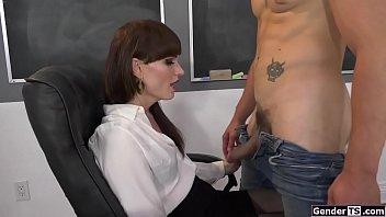 Ts teacher Natalie Mars sucking and anal