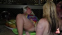 Sexy PAWGS Virgo and Big Booty Friends Eat Pussy Poolside
