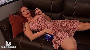 Stoner Mom Truth or Dare with Son - Shiny Cock Films 8 min
