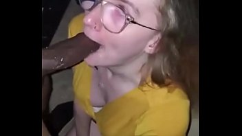 Pretty College Girl Deepthroat  BBC