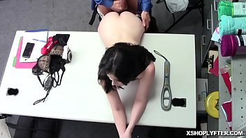 Brunette babe Aliza Haze moans and squirms as she gets pussy pounding