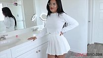 Busty Latina Sister Wants To Party With Brother- Alina Belle