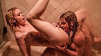 Two Horny Lesbian Caught Fucking on Shower