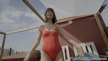 Tattooed Italian hottie Silvia Soprano's first anal sex scene.