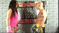 HARDCORE BELLY PUNCHING on UNDERGROUND INTERGENDER WRESTLING PROMOTION UIWP ENTERTAINMENT KING of INTERGENDER SPORTS