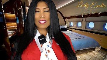 ASMR Sensual- Horny Private Flight Attendant 11 min
