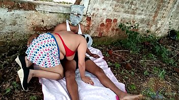 First Ever Outdoor Risky Public Sex With Step Aunt Pissing